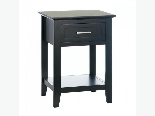 Accent Side End Table Nightstand Drawer Shelf Black White Choice New