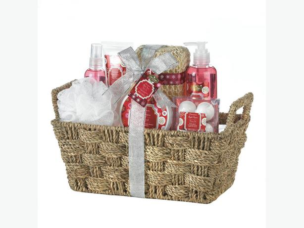 Bath & Body Gift Set Metal Caddy Reusable Basket Bulk Buy of 6 Different