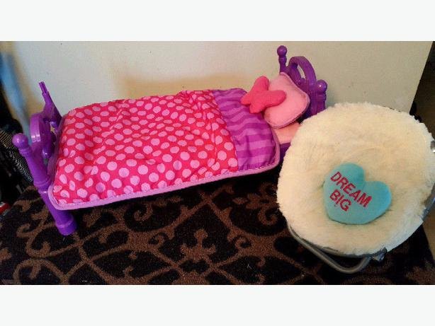 Doll Bed and Chair Set