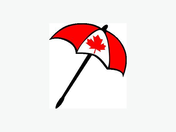 CANADIAN FLAG UNBRELLE