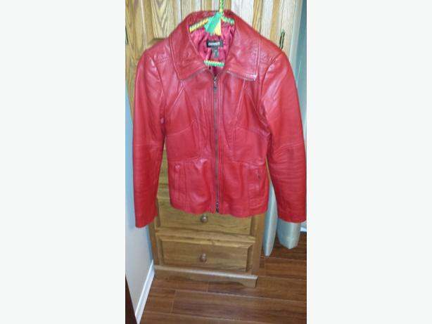 soft Red Danier leather jacket