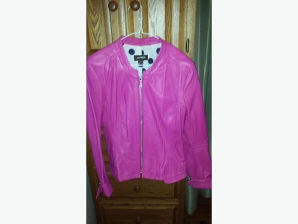 soft pink Danier leather jacket