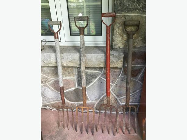 Vintage Forged Cast Iron Pitch Forks