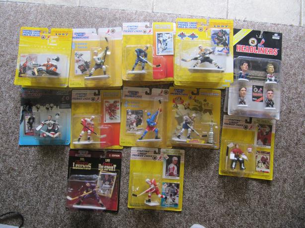 27 1993-1998 Starting Lineup Figures, Freeze Frame & Headliners. Gretzky etc.