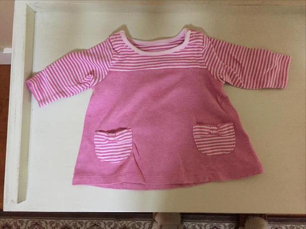 MARKS AND SPENCER PINK SHIRT. SIZE 0-3 MONTHS