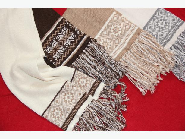 Alpaca Fringed Design Scarves