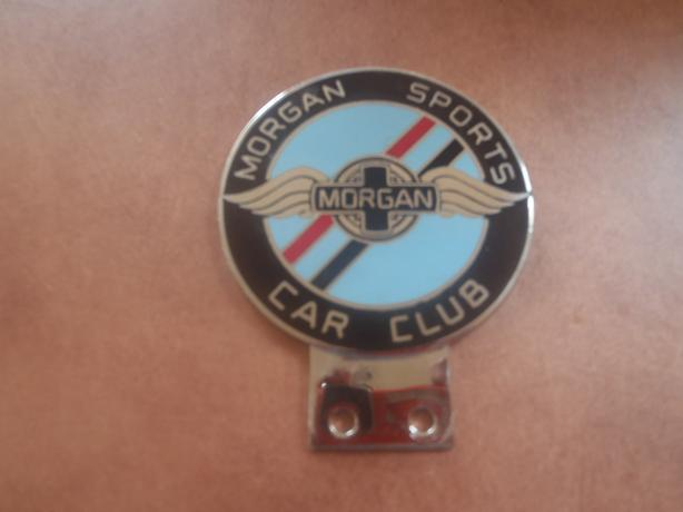 """ MORGAN SPORTS CAR CLUB"" BADGE"