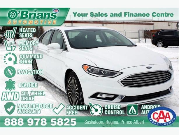 2017 Ford Fusion SE w/Mfg Warranty, AWD, Leather, Nav