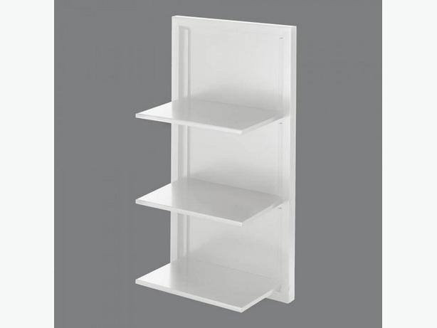 Unique Folding Wall Shelf Black White Choice Brand New Wood