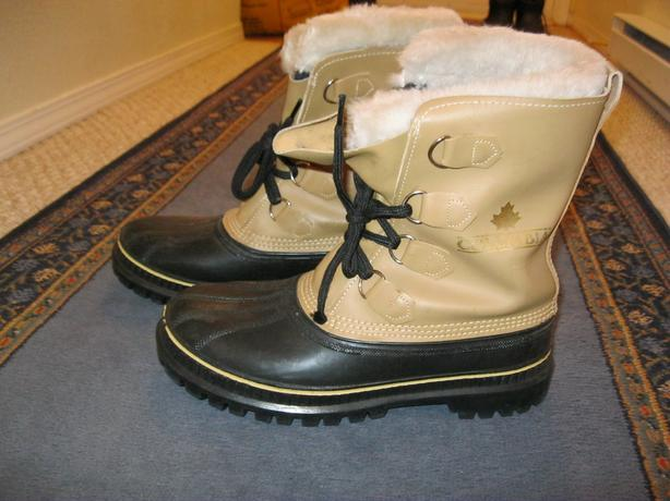 Winter snow boots, lined..