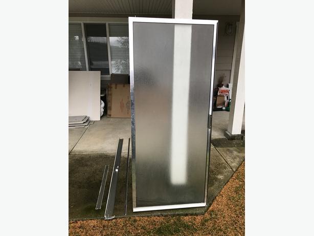"""Glass Shower Swing Door 29 3/4"""" Wide"""
