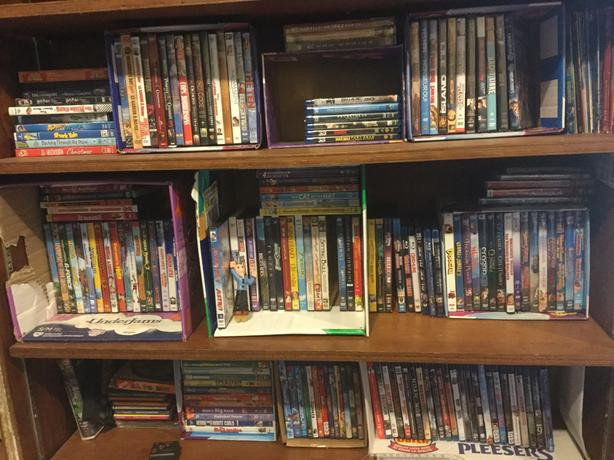 Children's to teen DVDs and bluerays