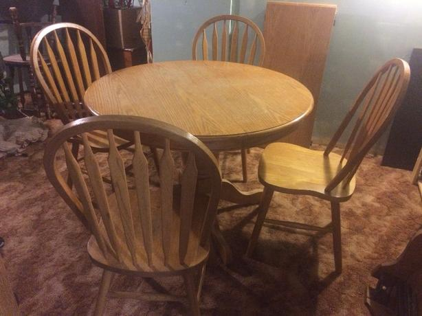 Table, Leaf, 4 chairs