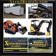 dump trailer for rent. available with skid steer or excavator