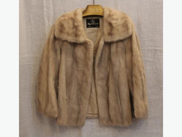 Renfrew Furs Tourmaline Blonde Ivory Mink Fur Jacket