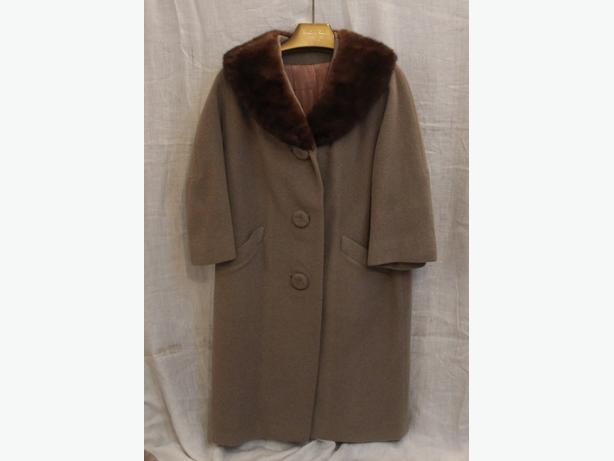 Vintage Herzlinger Ladies Coat with Mink Collar
