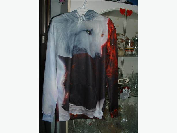 Yin Yang Fire Ice Wolves Hoodie Esquimalt View Royal Victoria