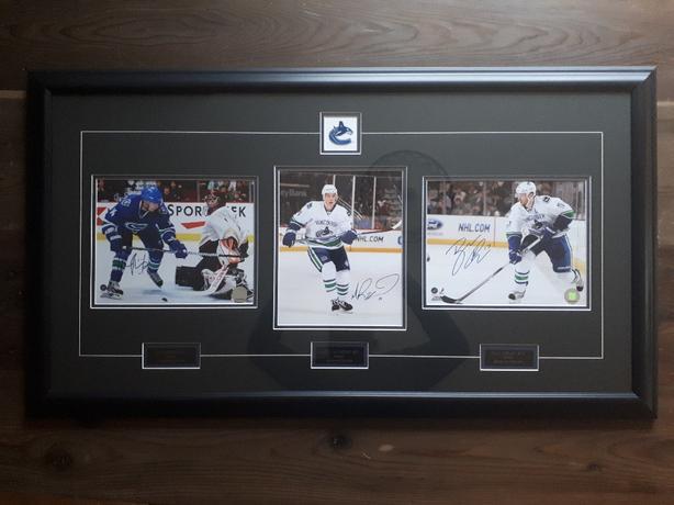 Canucks framed photos