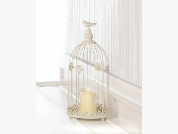 Soft White Ivory Birdcage Candleholder Wedding Centerpiece 3 Lot