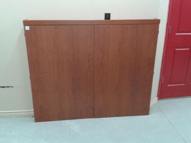 Like New 2 in 1 Whiteboard + Projector Screen Cabinet - $250