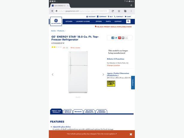 GE Energy Star Refridgerator