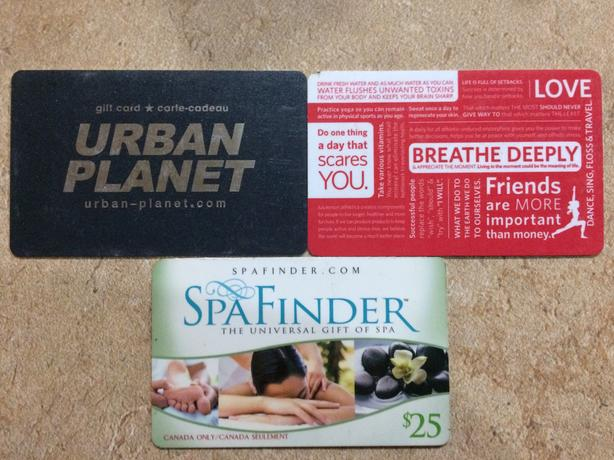 Two Gift Cards: Urban Planet & Spa Finder
