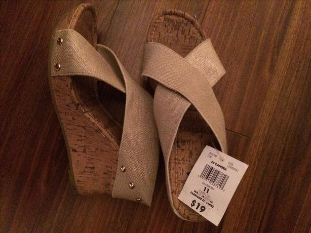 Wedge Sandals, Size 11
