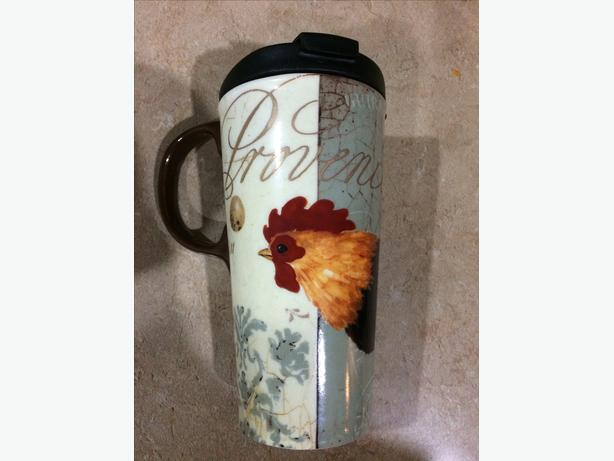 Glass Rooster Travel Mug