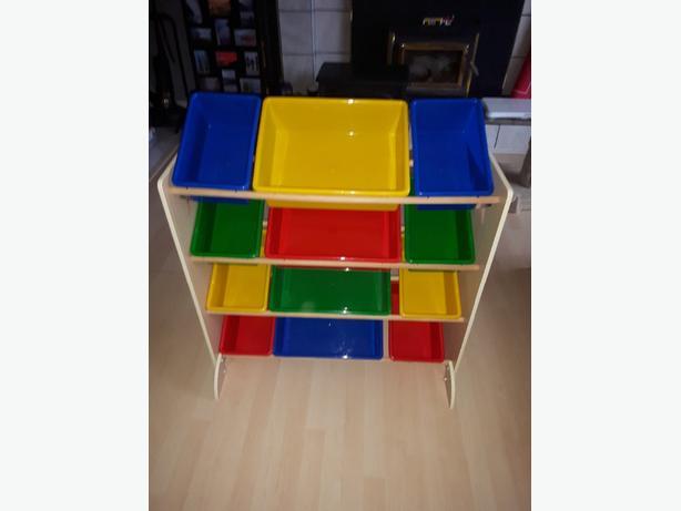Toy storage rack with 12 bins