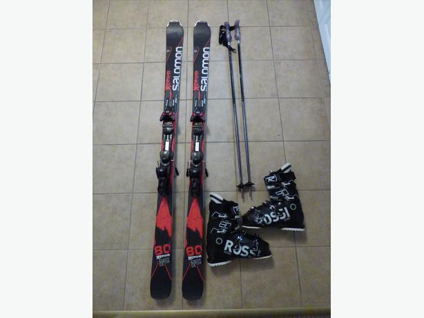Solomon X-Drive 8.0 skis  + bindings + poles + boots