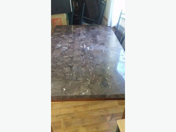 marble dining table