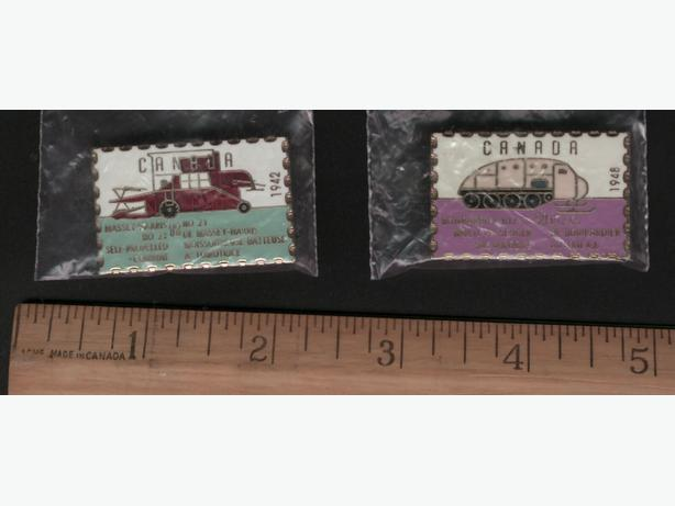 2  Canadian Stamp Pins