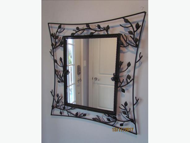 Black Wrought Iron Mirror  24 x 26