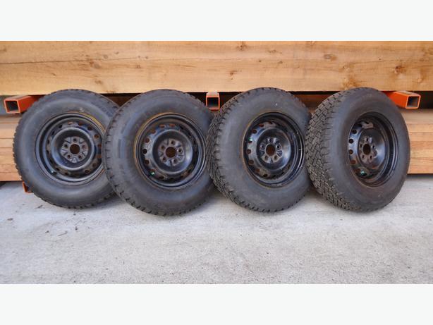 205/75R14 Winter Tires on Rims - 98% Tread!!