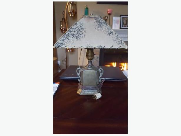 Beautiful funky Vintage / Antique bedside table lamp piggy bank