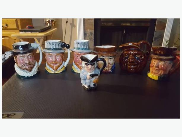 Vintage cool Toby head jug collection