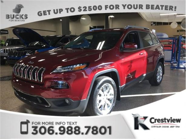 2017 Jeep Cherokee Limited 4x4 | Sunroof | Navigation