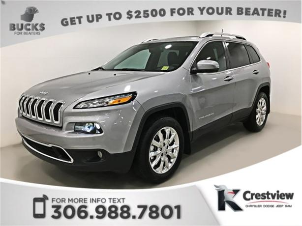 2017 Jeep Cherokee Limited 4x4 | Sunroof | Navigation