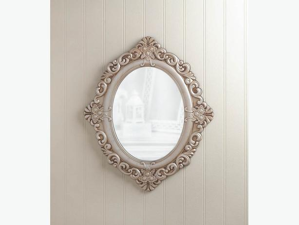 Wall Mirror 3 Different Ivory Oval Black Rectangle Round 2 Lot choice