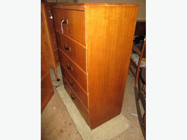FIVE DRAWER CHEST FROM ESTATE