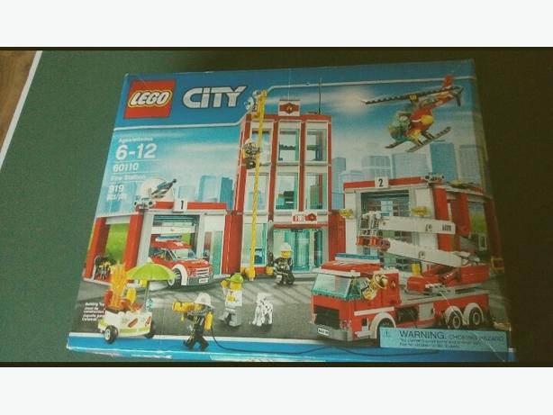 unopened lego firehouse set