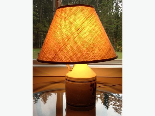 Antique Crock Jug Lamp