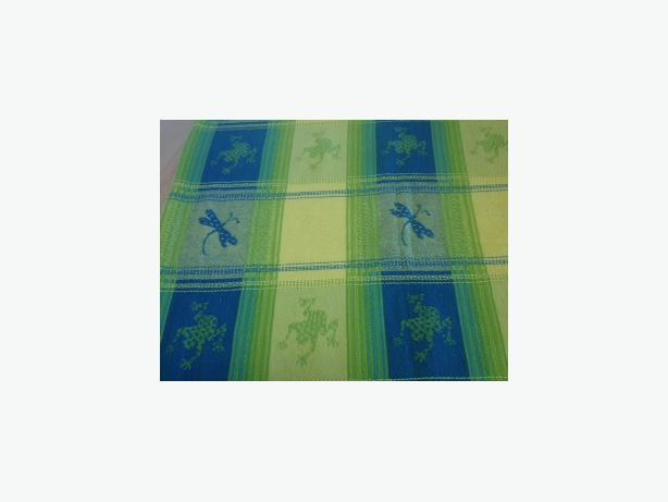 FROGS AND DRAGONFLIES COTTON TABLECLOTH NAPKINS - LIKE NEW