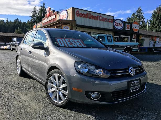 2012 Volkswagen Golf TDI Highline - Leather, Navigation & Sunroof