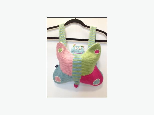 SOURIS MINI BUTTERFLY KNIT LINED BACKPACK