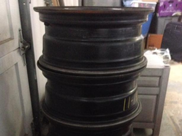 4 Steel wheels, size 16x6.5J 5x115mm