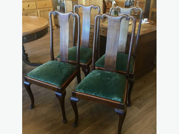 Set of 4 Mahogany Dining Chairs