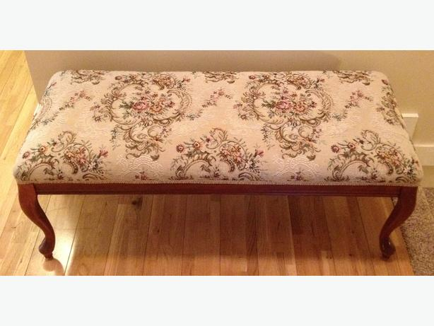 Gorgeous Petit Point Foot Bench / Stool