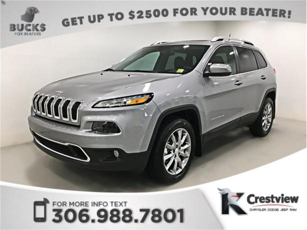 2017 Jeep Cherokee Limited 4x4 V6 | Heated and Ventilated Seats | Sunroof