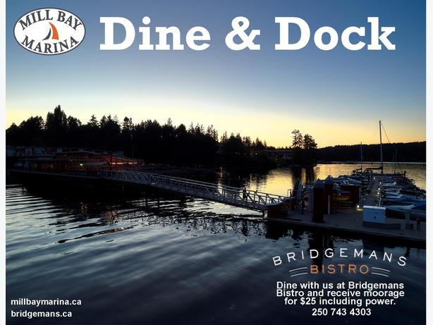 DINE & DOCK $25 moorage